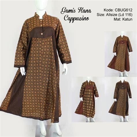 Hana Gamis Syari gamis hana batik motif cappucino gamis batik murah