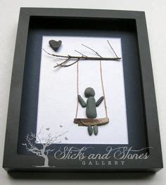 swing by swing pebble pebble art pebbles and driftwood on canvas pebble rock