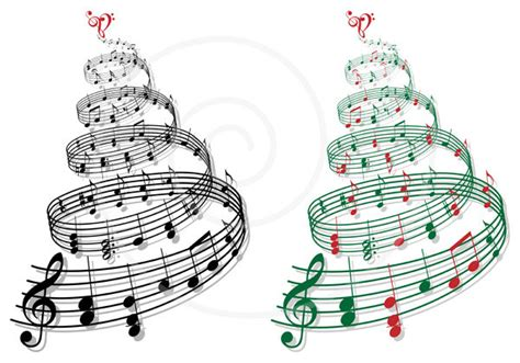musical notes christmas tree image tree with notes printable card