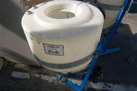 15 gallon cone inductor tank qty2 water cone inductor 15 gal tank polyethylene stand