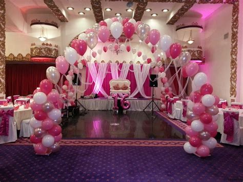 sweet themed event design sweet sixteen party decoration ideas with pink theme