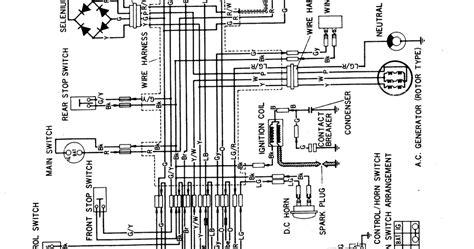 wiring diagram kelistrikan honda gl 100 wiring diagram