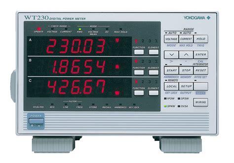 Wt210 Wt230 Digital Power Meters Digital Power Analyzers