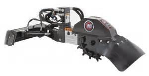 Mini skid steer stump grinder attachment spartan equipment