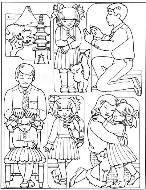 lds coloring pages blessings mormon share otosan receives a priesthood blessing