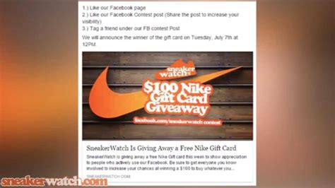 Free Nike Gift Card - sneakerwatch announces free nike gift card giveaway youtube