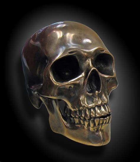 bronze skull skulls