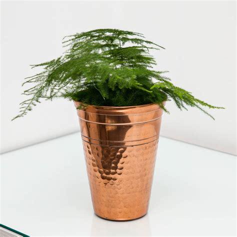 Copper Planter Pots by Medium Hammered Copper Vase Planter Plant Pot By