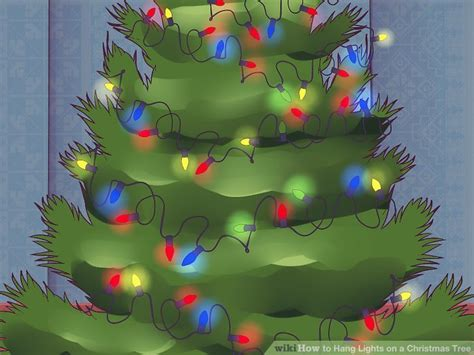 3 ways to hang lights on a christmas tree wikihow