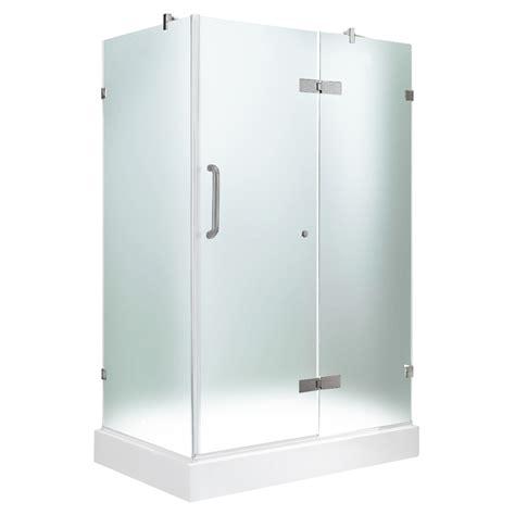 Shower Kit Lowes by Shop Vigo Frameless Showers Brushed Nickel Walls Not