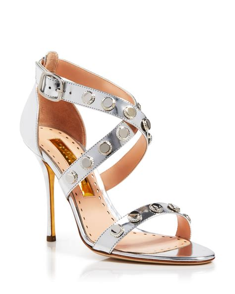 strappy silver sandals rupert sanderson strappy sandals bottlecap high