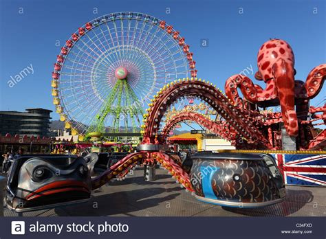 theme park tenerife amusement park ride in santa cruz de tenerife spain stock