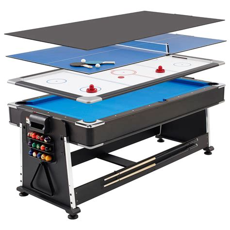 3 in 1 games table air hockey mightymast 7ft revolver 3 in 1 pool air hockey table