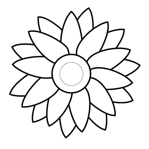 easy flower template simple flower template clipart best