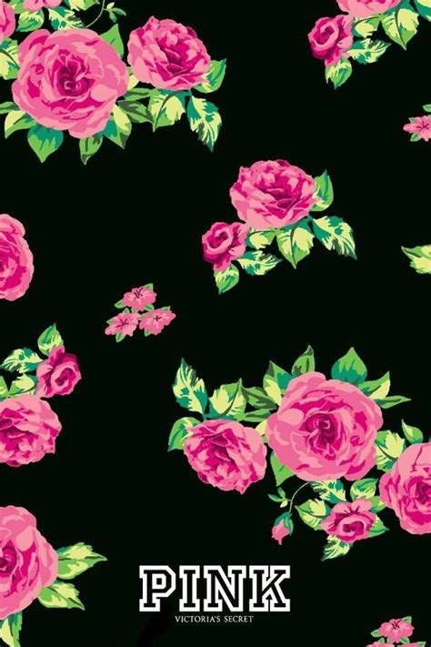 Vs Pink Flower backgrounds flowers iphone nana phone pink secret wallpaper image 2913803 by
