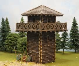 Log Cabin Home Designs roman border watch tower