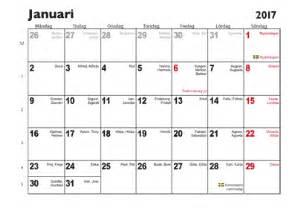 Finland Calendrier 2018 Almanacka Kalender
