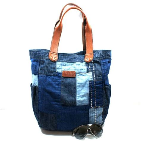 Lucky Brand Patchwork Bag - lucky brand or shine patchwork denim tote bag