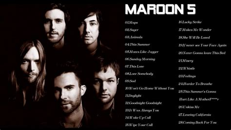 maroon 5 greatest hits cover best songs of maroon 5 maroon 5 greatest hits full album cover 2017 youtube