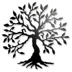 Tree Symbol Olive Tree 21 Quot Round Steel Wall Sculpture By Modern 109