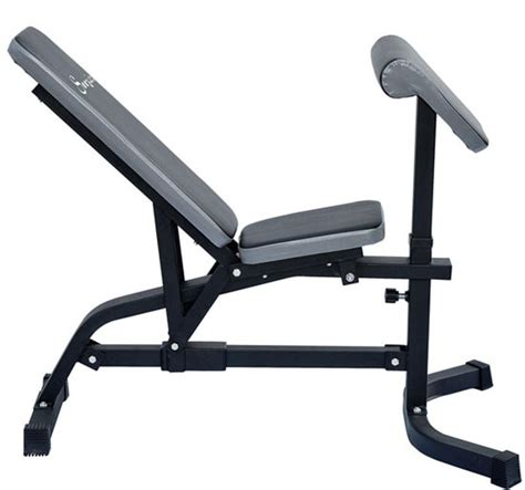 preacher curl bench adjustable exercise bench with preacher curl aosom ca