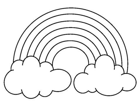 rainbow outline coloring page outline rainbow coloring