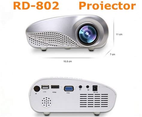 Jg348 Mini Projector Vga Hdmi Av Tv New mini multimedia led hdmi projector 60 lumens home cinema support av tv vga hdmi usb 2
