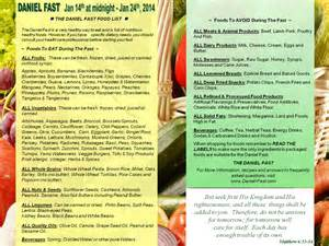 the daniel fast food list 171 church of the great commission