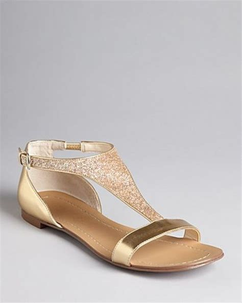 gold flat shoes for boutique 9 t metallic flat sandals piraya in gold