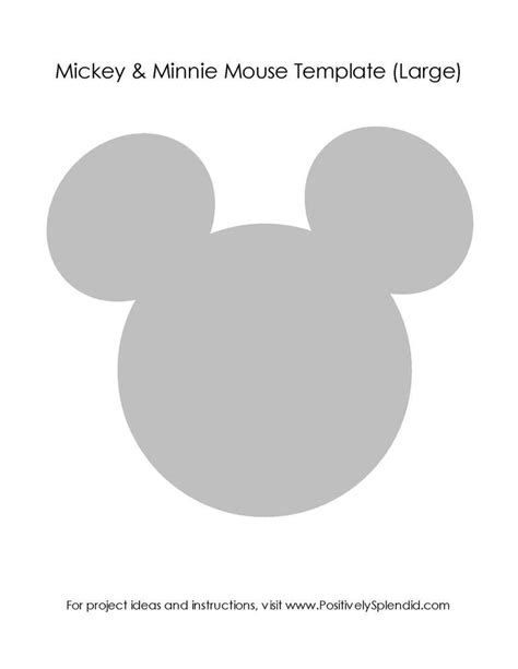 large mickey mouse template minnie mouse pink birthday ideas photo 3 of 57