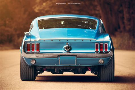 ford mustang photography 1967 ford mustang fastback rear by americanmuscle on