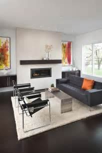 Contemporary Decor Modern Fireplace Mantels Living Room Modern With Exposed