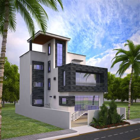 free 3d home design exterior house design 3d model architectural cgtrader