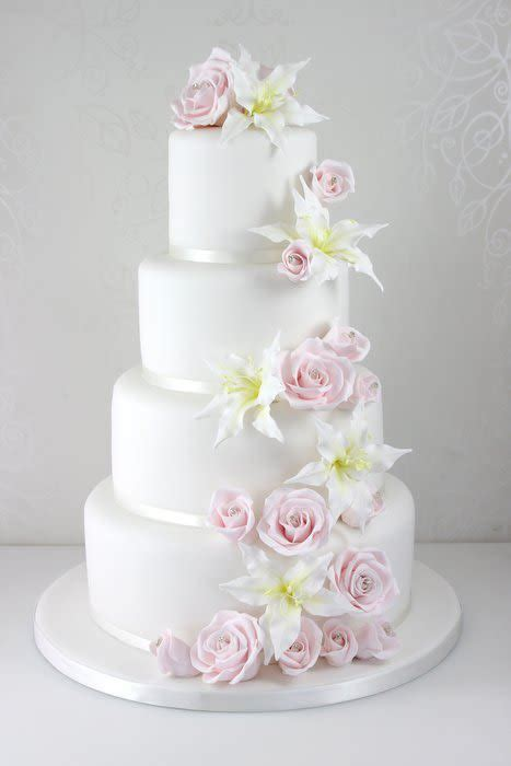 Wedding Cakes Roses by And Cascade Wedding Cake Cake By The