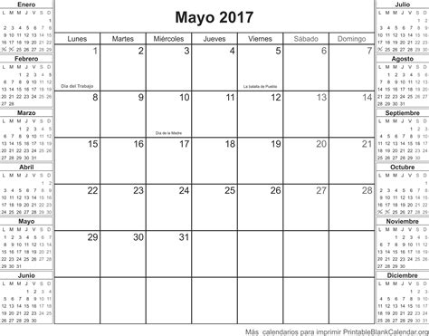 Calendarios Para Imprimir Mayo 2017 Calendario Para Imprimir Calendarios Para Imprimir