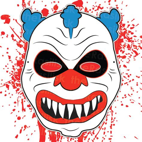 How To Make A Clown Mask Out Of Paper - scary clown mask mask clown mask by therasilisk