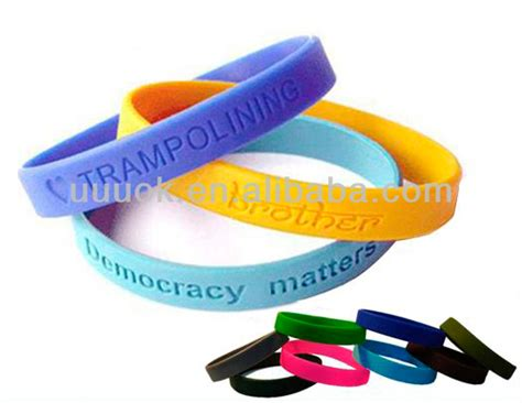 cheap custom personalized silicone bracelet buy