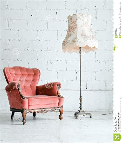 armchair in bedroom armchair with desk l in vintage room stock images image 26229504
