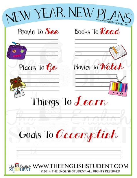 new year lesson plans esl new year s resolutions