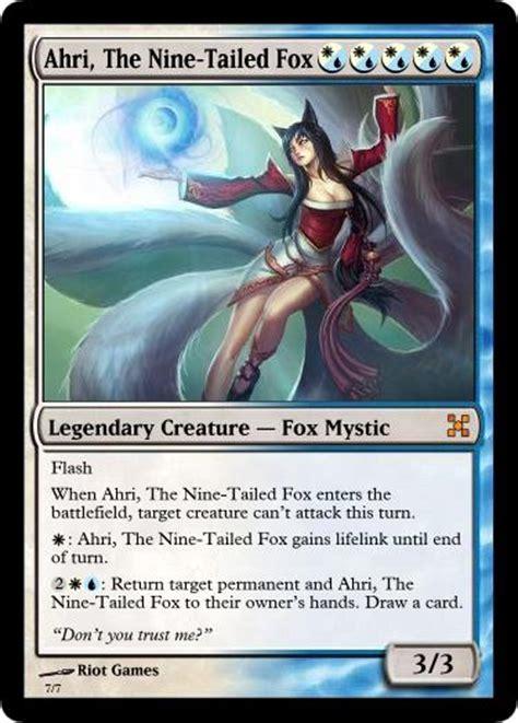 mtg league decks ahri the nine tailed fox mtg card by olly nyan on deviantart