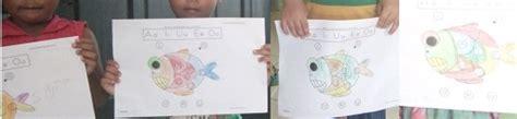 Pintar Menulis Huruf Abjad Besar Dan Kecil Jilid 1 Dan 2 2 Buku mewarnai menjodohkan huruf besar kecil ikan aiueo rumah