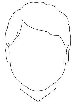 boy head coloring page blank boy face template clipart best