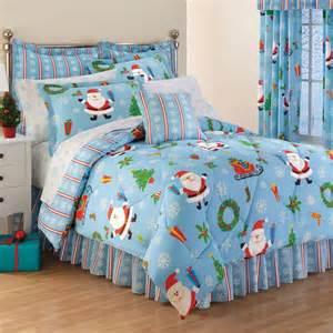 8 king santa snowflake comforter sheets