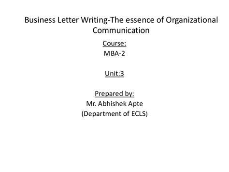 business letters slideshare mba sem 2 unit 3 business letters