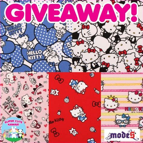 Hello Kitty Giveaways Gifts - modes4u hello kitty fabric giveaway closed super cute kawaii
