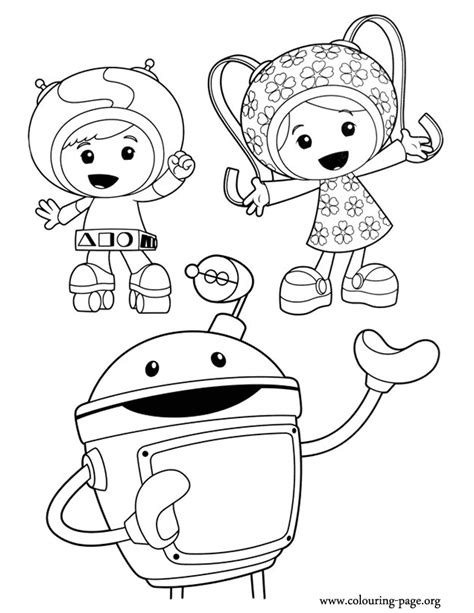geo umizoomi coloring page team umizoomi geo milli and bot coloring page