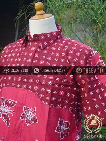 Hem Pulau Liris Merah 1 jual kemeja batik tulis motif pulau remukan merah
