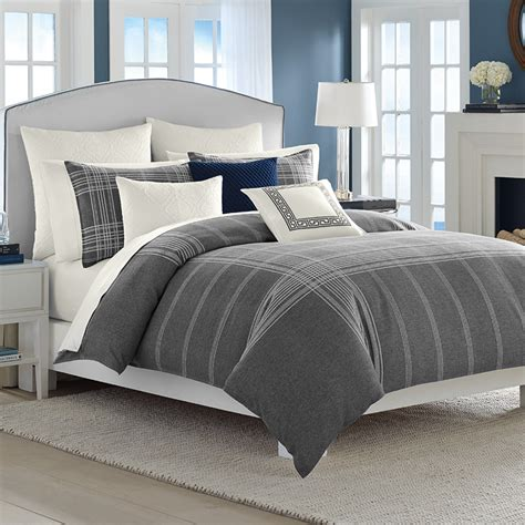 bed comforter set nautica haverdale gray comforter and duvet sets from