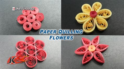 easy 4 paper quilling flowers for beginners how to make