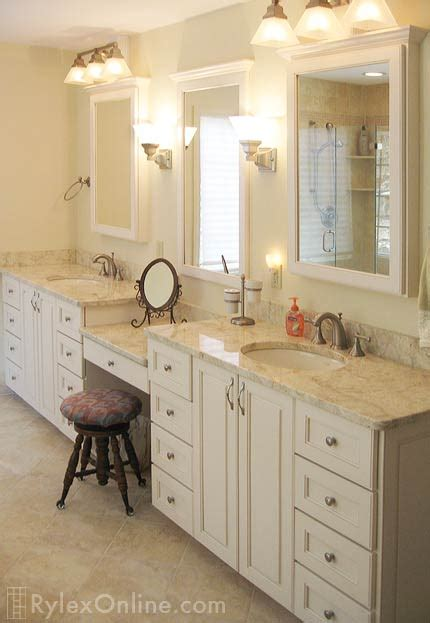 Bathroom Vanities In Orange County Bathroom Vanity With Makeup Counter Granite Bathroom